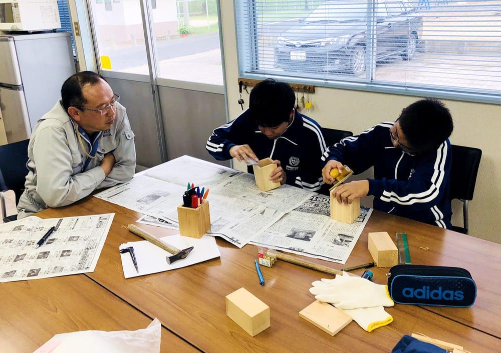 地元岡崎市の中学生職場体験を実施しました。