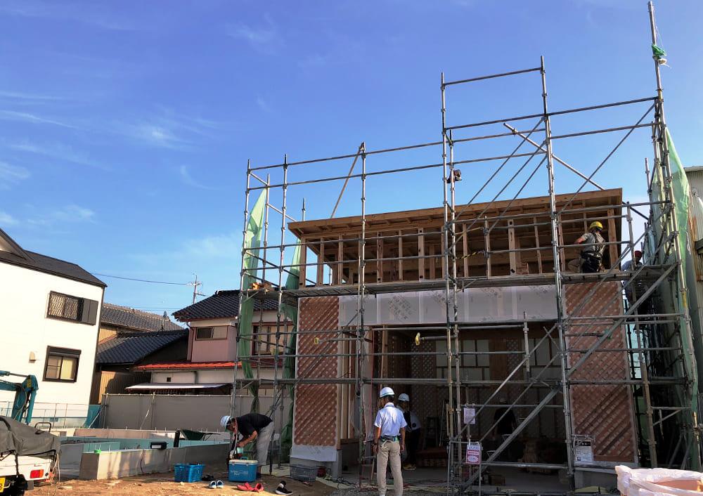 7月30日大安 新倉庫の建方